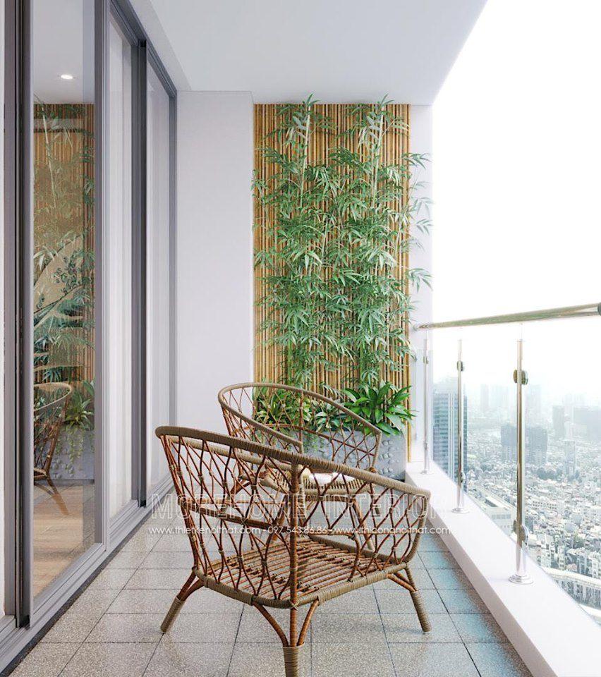 Thiết kế ban công chung cư vinhomes skylake phạm hùng phong cách nhật