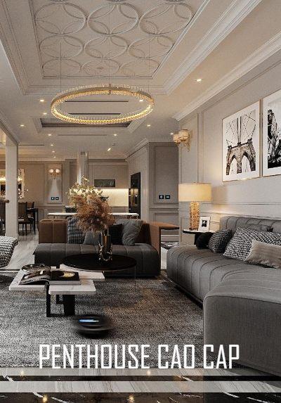 Thiết kế nội thất căn hộ Penthouse sang trọng cao cấp tại Hà Nội