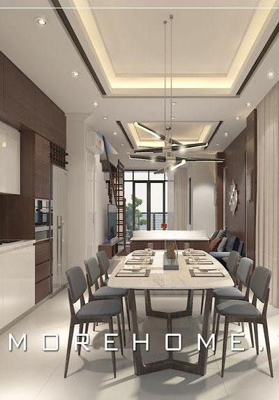 Thiết kế nội thất phòng ăn chung cư, biệt thự đẹp trẻ trung và đẳng cấp