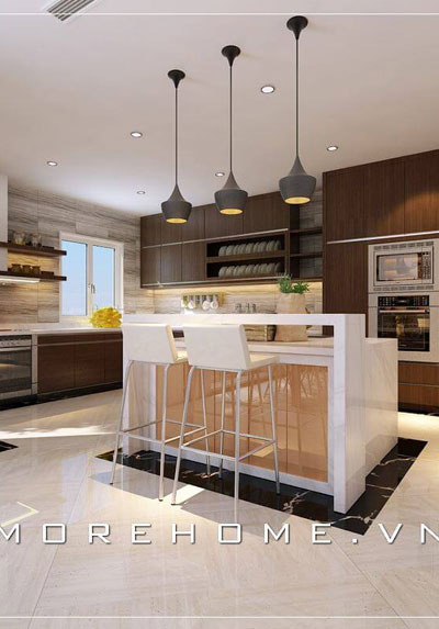 Các mẫu trang trí phòng bếp ấn tượng