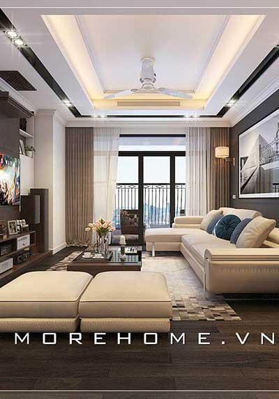 20 mẫu thiết kế phòng khách chung cư đẹp