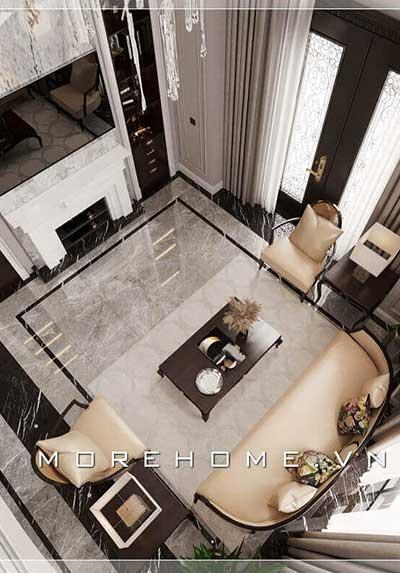 Điểm qua các mẫu thiết kế phòng khách tân cổ điển sang trọng