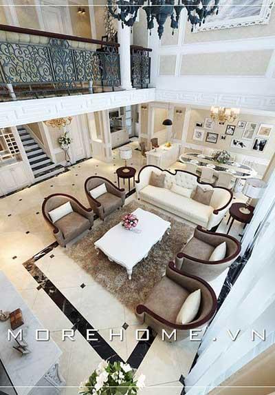 Thiết kế phòng khách chung cư đa phong cách