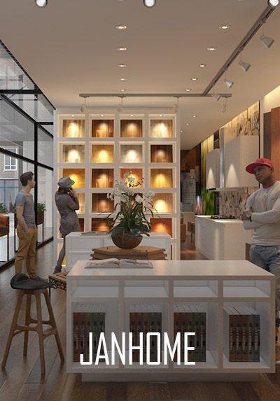 Thiết kế nội thất showroom nội thất JANHOME hiện đại