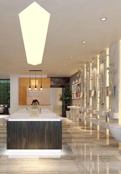 Thiết kế nội thất showroom thiết bị vệ sinh cao cấp, sang trọng