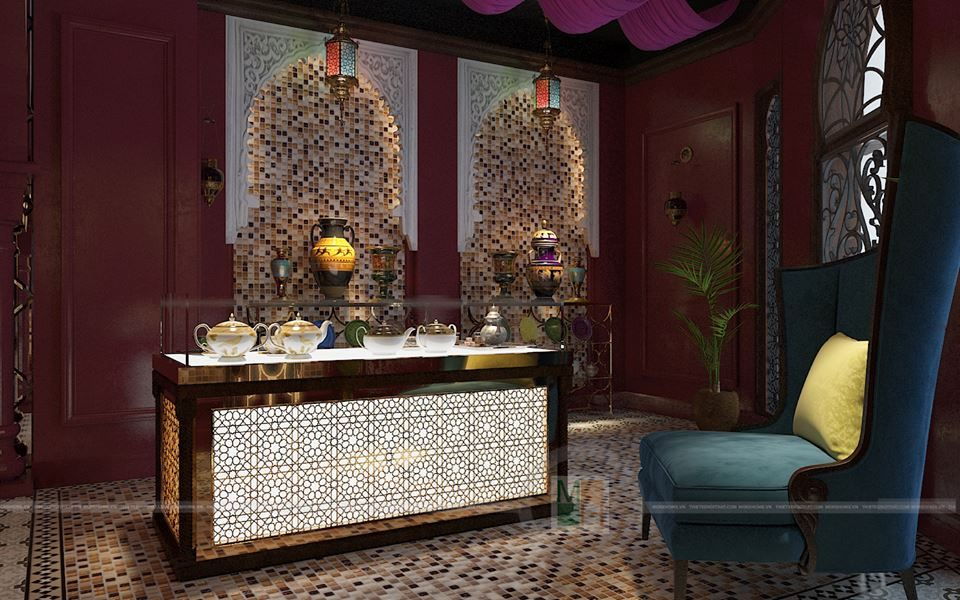 Thiết kế nội thất showroom Saffron
