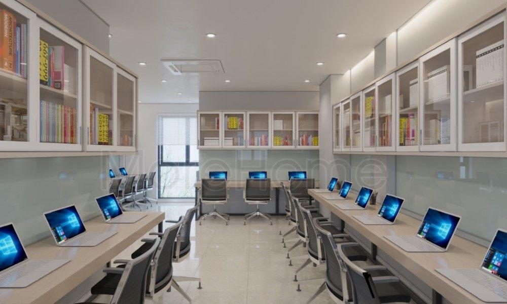 Thiết kế văn phòng công ty máy tính