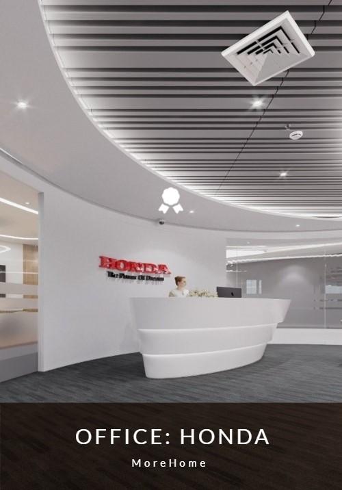 Thiết kế văn phòng công ty Honda hiện đại, đẹp, sang trọng