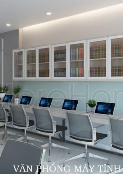 Thiết kế văn phòng công ty Máy Tính  tại Hà Đô Centrosa Quận 10 - Tp. HCM