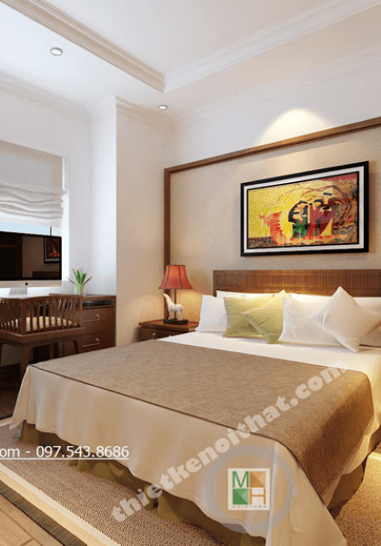 Thiết kế chung cư phong cách Gỗ Việt ấm cúng tại Golden Palace - Nhà Anh Nhiên