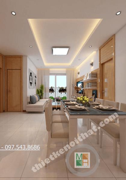 Thiết kế nội thất chung cư Golden Palace- Anh Dũng