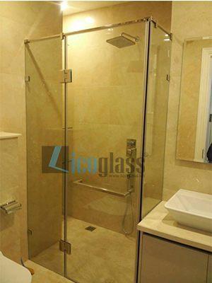 Thi công vách tắm kính chung cư An Bình City