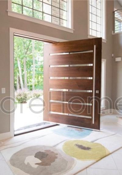Cửa gỗ óc chó tự nhiên - CG003