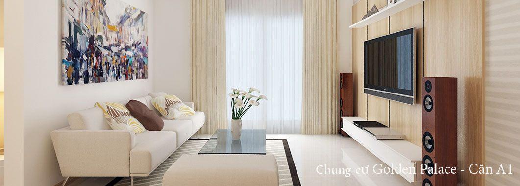 Thiết kế nội thất chung cư Golden Palace Mễ Trì - Căn 01