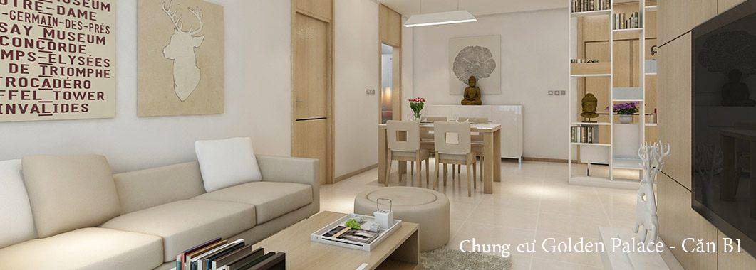 Thiết kế nội thất căn hộ chung cư tại Golden Palace - Căn B1