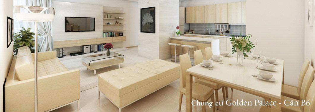 Thiết kế nội thất chung cư Golden Palace - căn hộ B6