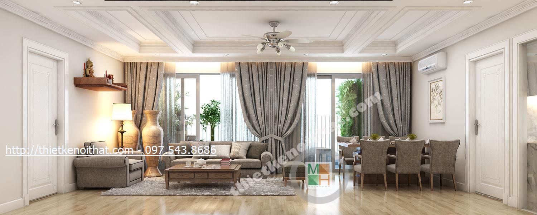 Thiết kế nội thất chung cư N04