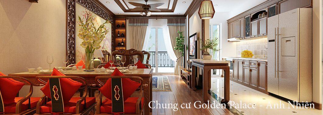 Thiết kế chung cư phong cách Gỗ Việt ấm cúng tại Golden Palace
