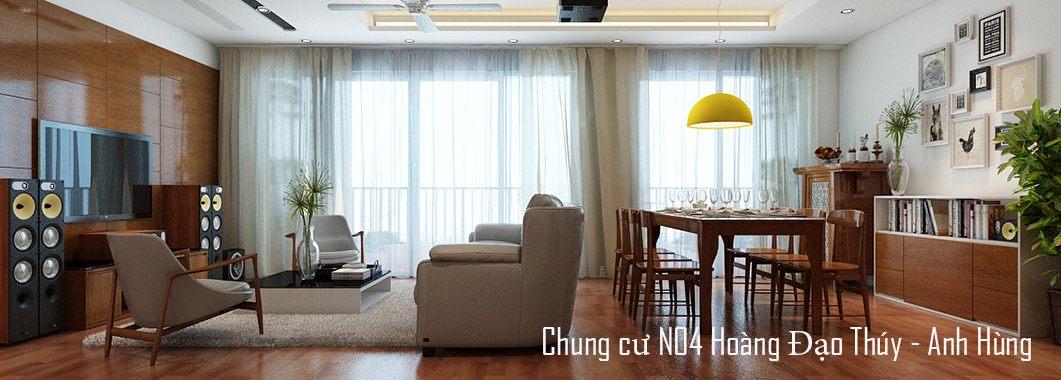 Thiết kế nội thất chung cư N04 Hoàng Đạo Thúy
