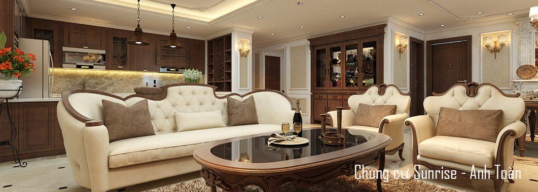 Thiết kế chung cư Sunrise cao cấp theo phong cách tân cổ điển