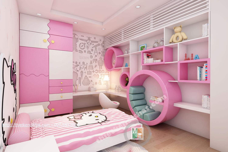 Thiết kế nội thất phòng ngủ trẻ em chung cư Timescity Hai Bà Trưng phong cách hiện đại sang trọng