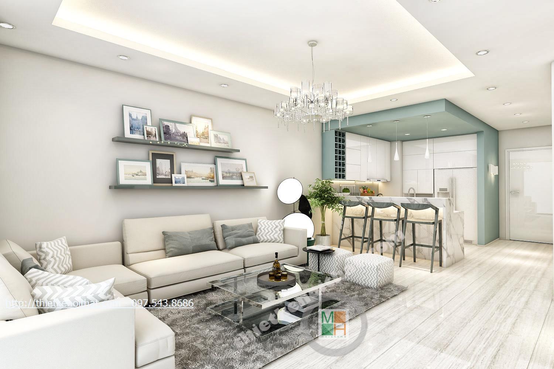 Thiết kế nội thất chung cư Timescity Hai Bà Trưng phong cách hiện đại sang trọng