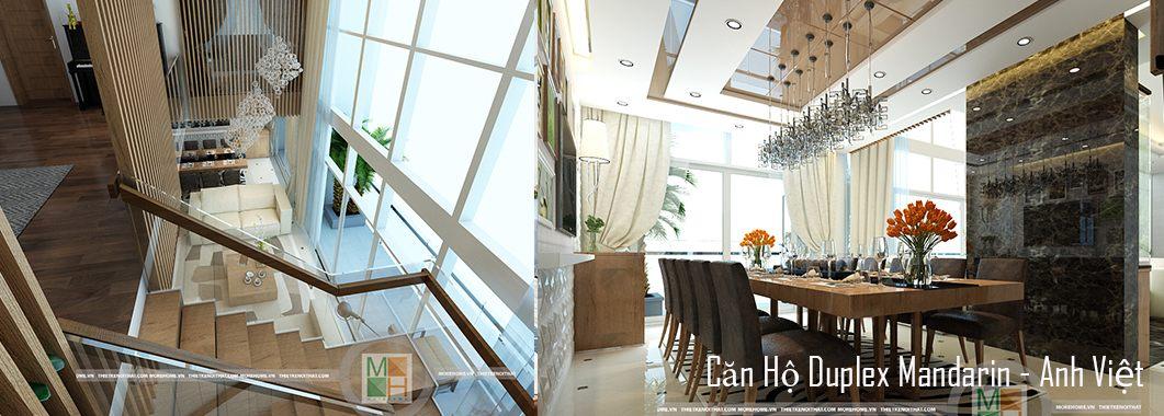 Thiết kế chung cư cao cấp căn hộ Duplex Mandarin Hòa Phát