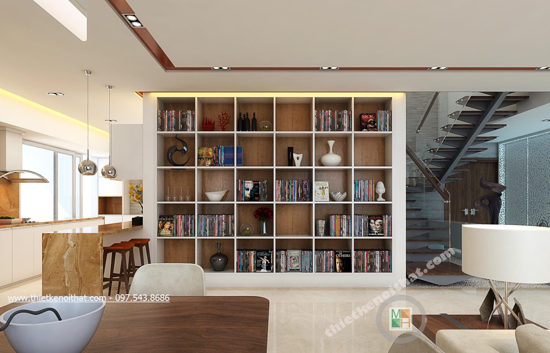 Thiết kế nội thất chung cư Duplex Mandarin Garden phong cách hiện đại đẹp