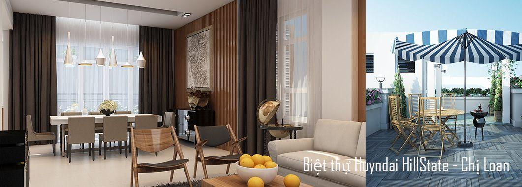 Thiết kế nội thất biệt thự Huyndai HillState