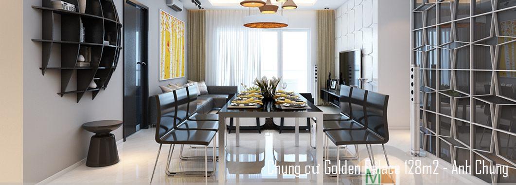 Thiết kế nội thất chung cư cao cấp Golden Palace căn 128m2 - Nhà Anh Chung