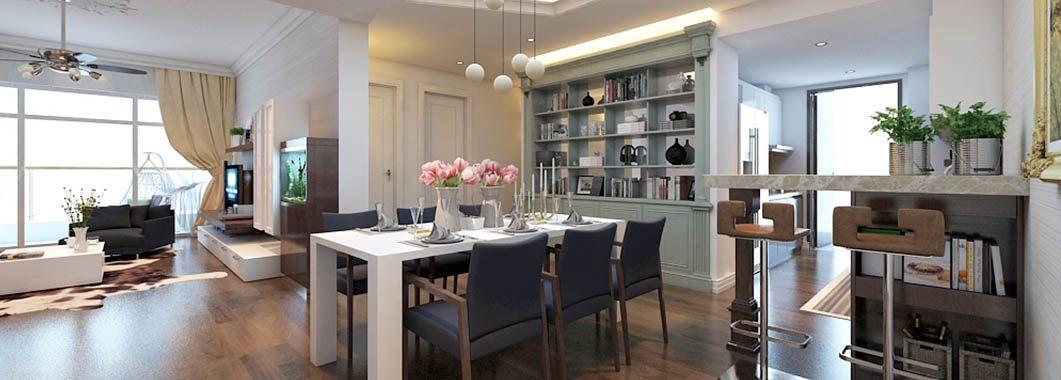 Thiết kế nội thất phòng khách căn hộ chung cư Mandarin