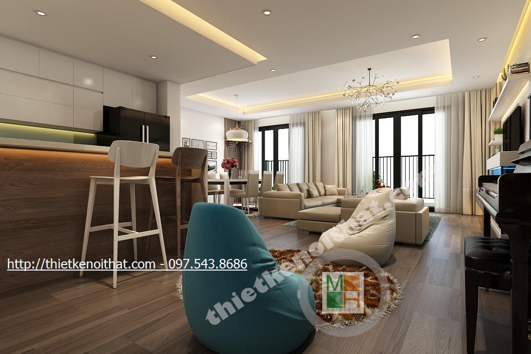 Thiết kế nội thất chung cư Hà Đô ParkView
