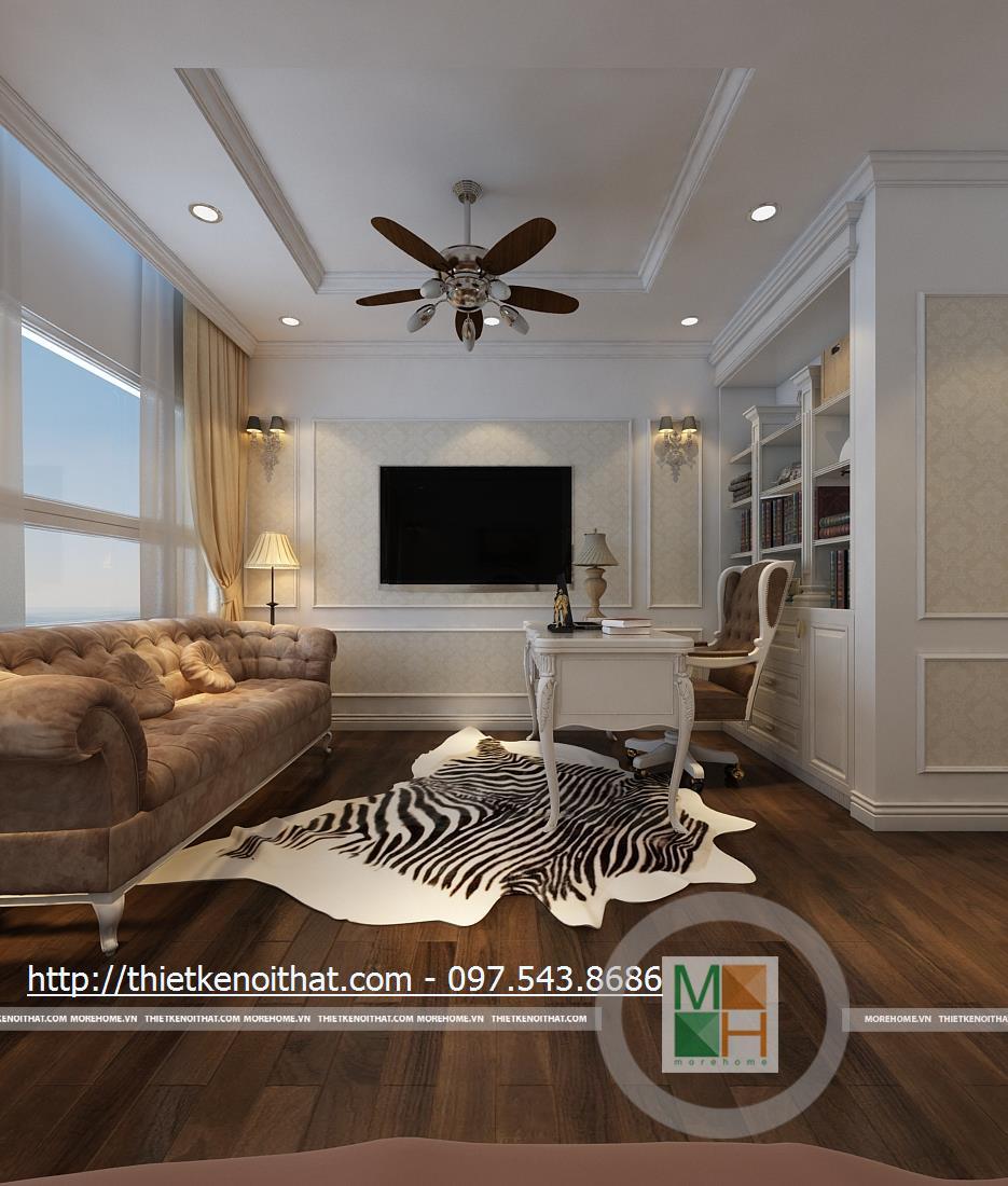 Thiết kế nội thất chung cư Duplex tại Mandarin Garden Hòa Phát