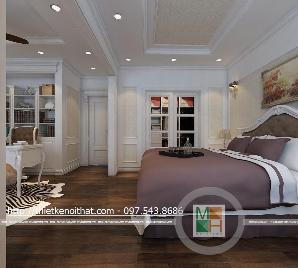 Phòng ngủ chung cư Duplex tại Mandarin Garden Hòa Phát