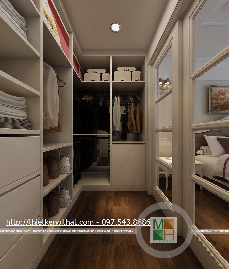 Phòng thay đồ chung cư Duplex tại Mandarin Garden Hòa Phát