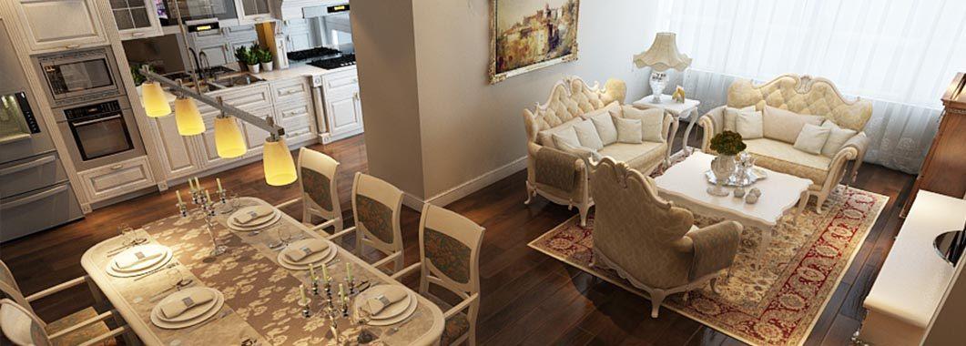 Thiết kế phòng khách nội thất Mandarin Garden