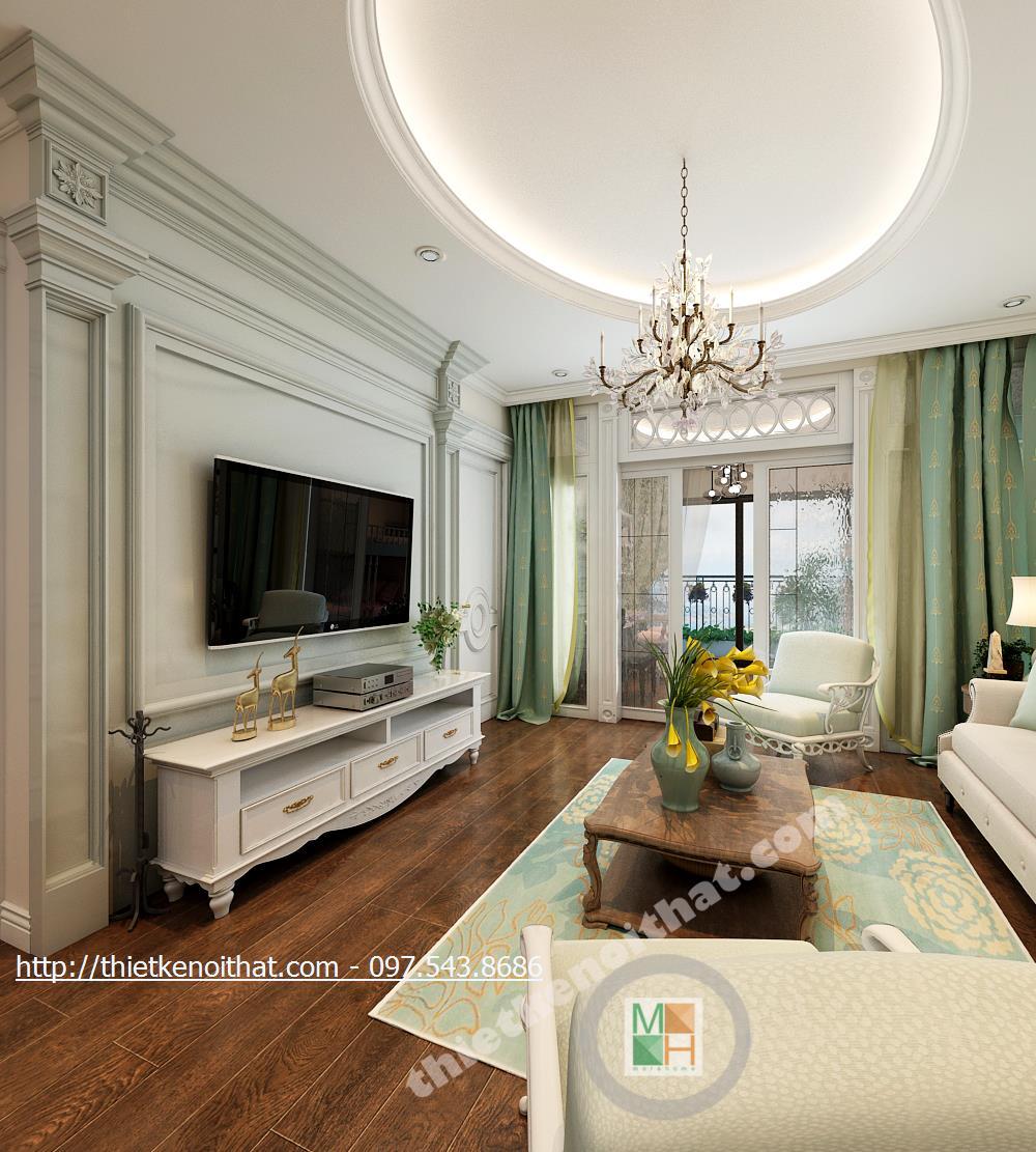 Thiết kế căn hộ chung cư TimesCity Tân cổ điển