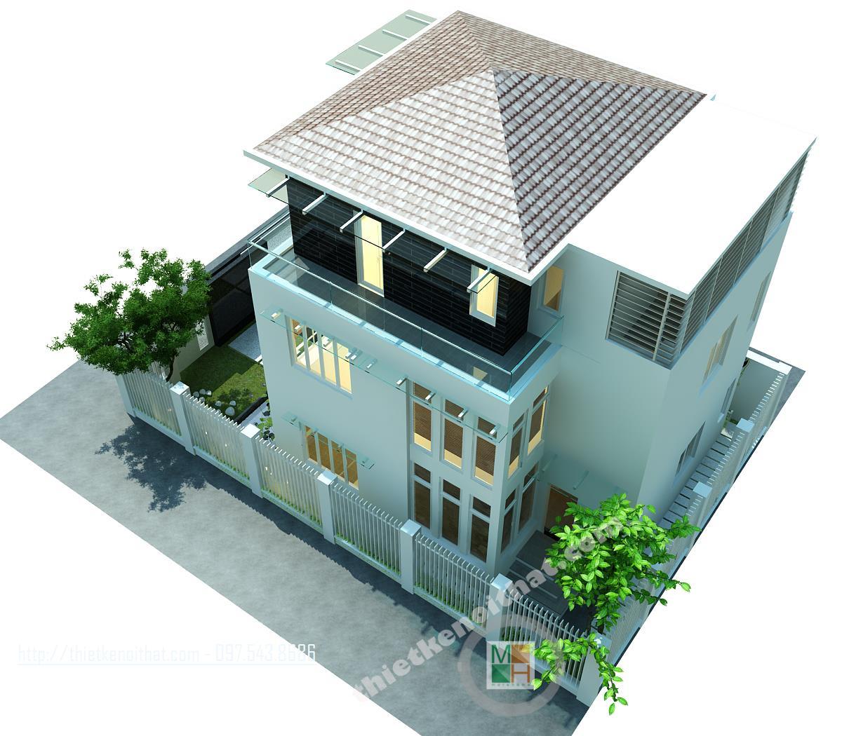 Thiết kế biệt thự hiện đại tại Văn Khê Hà Đông