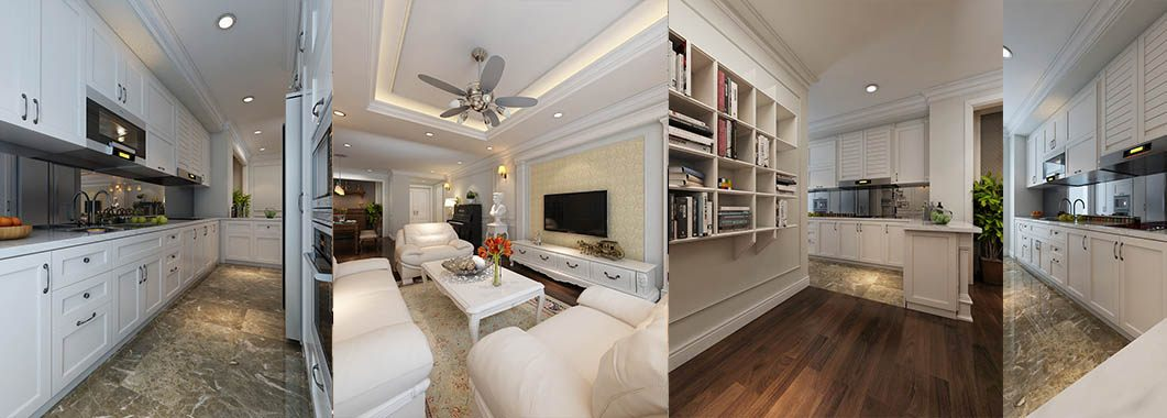 Thiết kế nội thất chung cư tân cổ điển Mandarin Garden
