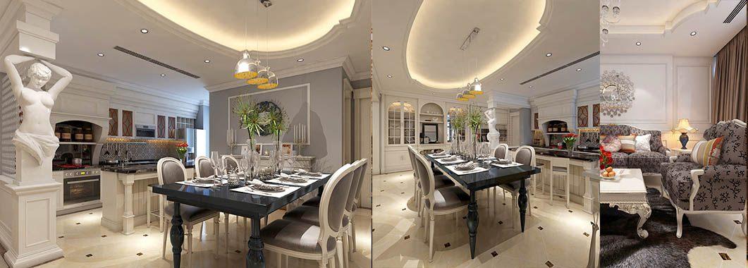 Thiết kế nội thất chung cư tân cổ điển tại Mandarin Garden Hòa Phát