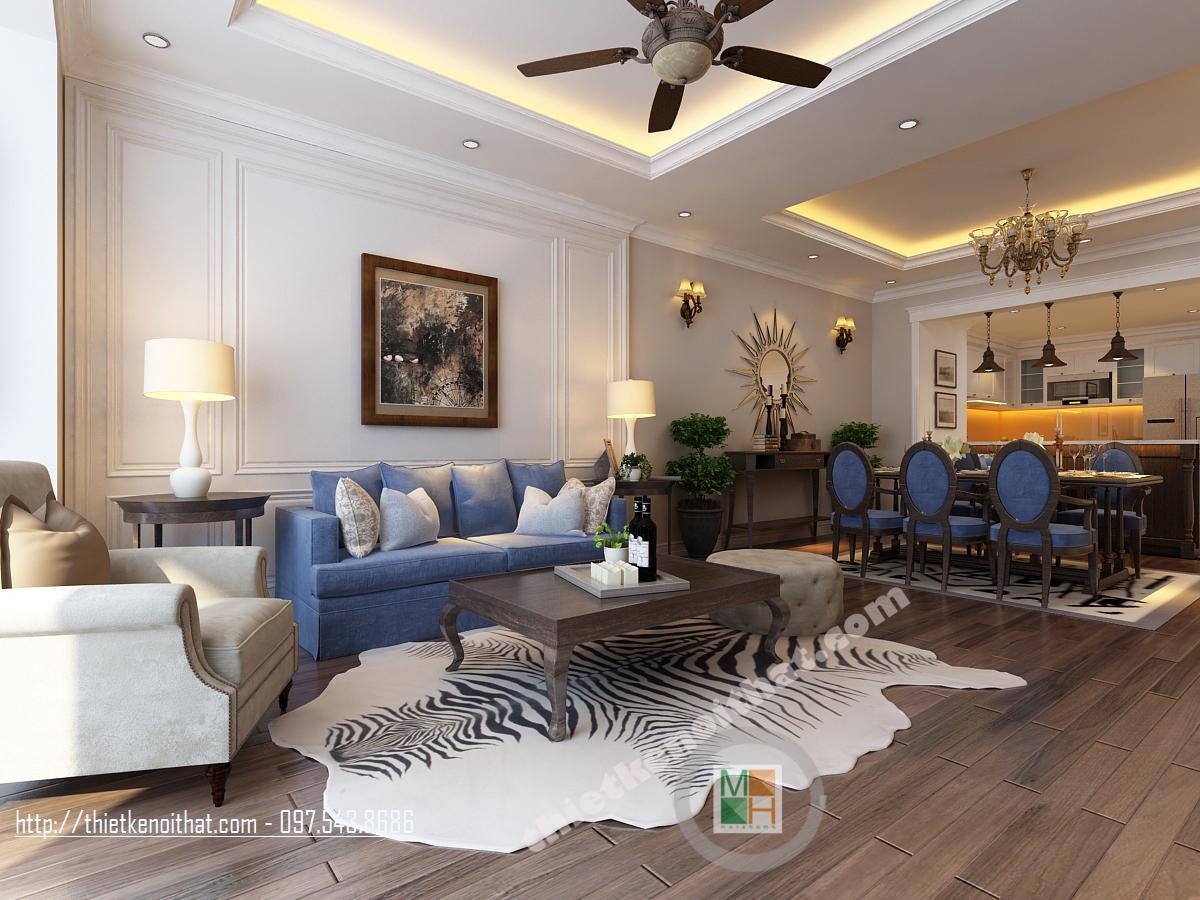 Thiết kế nội thất chung cư Royal City Thanh Xuân phong cách hiện đại