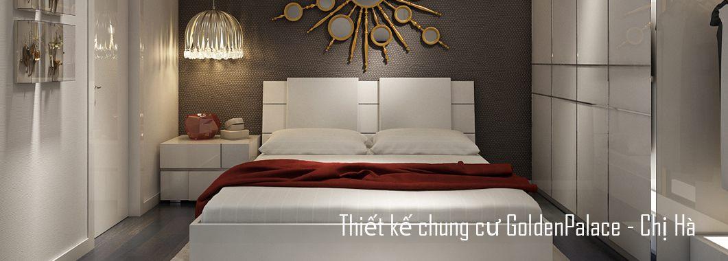 Thiết kế nội thất chung cư Golden Palace Mễ Trì - Chị Hà