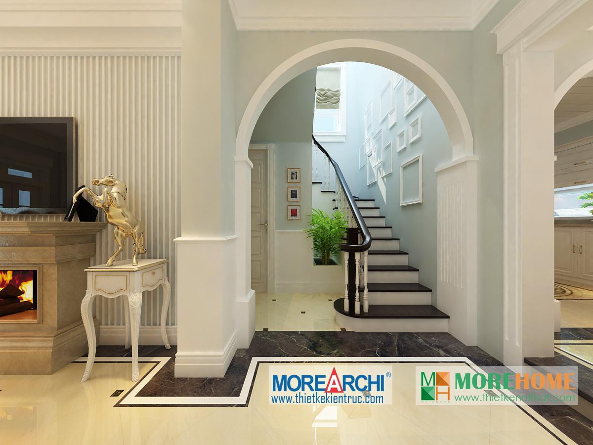 Thiết kế nội thất biệt thự cao cấp cổ điển Mỹ Đình phong cách tân cổ điển