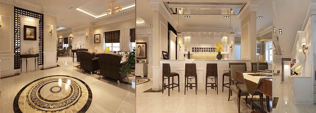 Thiết kế nội thất biệt thự cao cấp tân cổ điển tại Bắc An Khánh