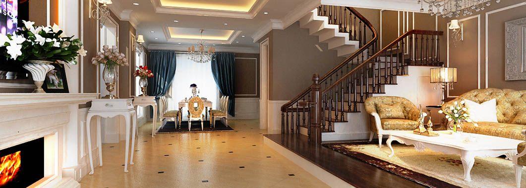 Thiết kế nội thất biệt thự tân cổ điển cao cấp VinHome - Hoa Lan
