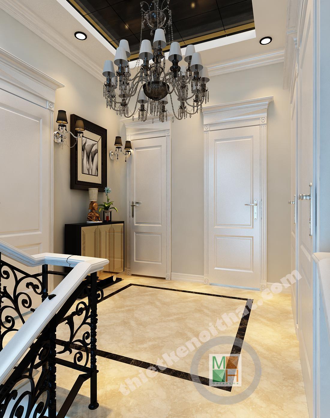 Thiết kế nội thất biệt thự Việt Hưng - Phong cách tân cổ điển sang trọng