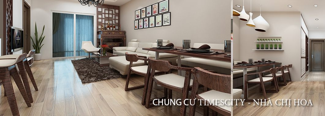 Thiết kế nội thất căn hộ chung cư TimesCity - Chị Hoa