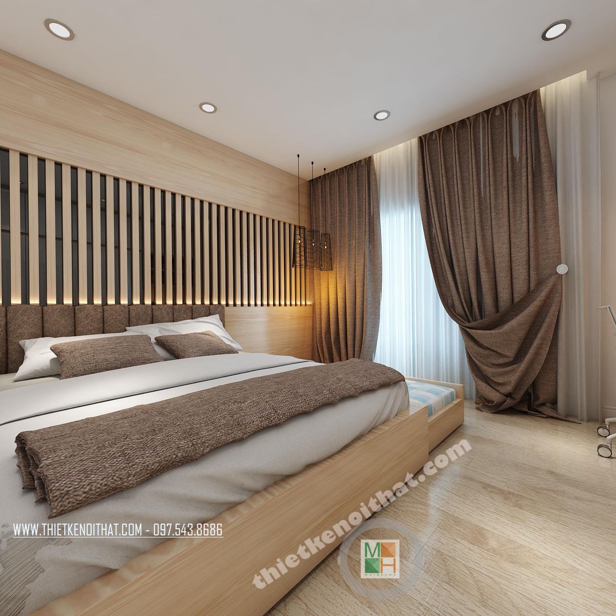 Thiết kế phòng ngủ căn hộ chung cư Bà Triệu Hoàn Kiếm Hà Nội