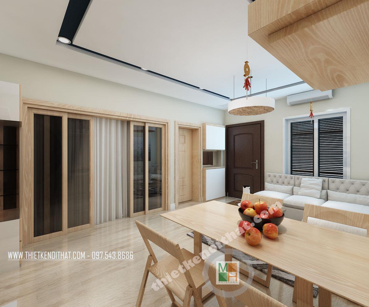 Thiết kế phòng bếp căn hộ chung cư Bà Triệu Hoàn Kiếm Hà Nội