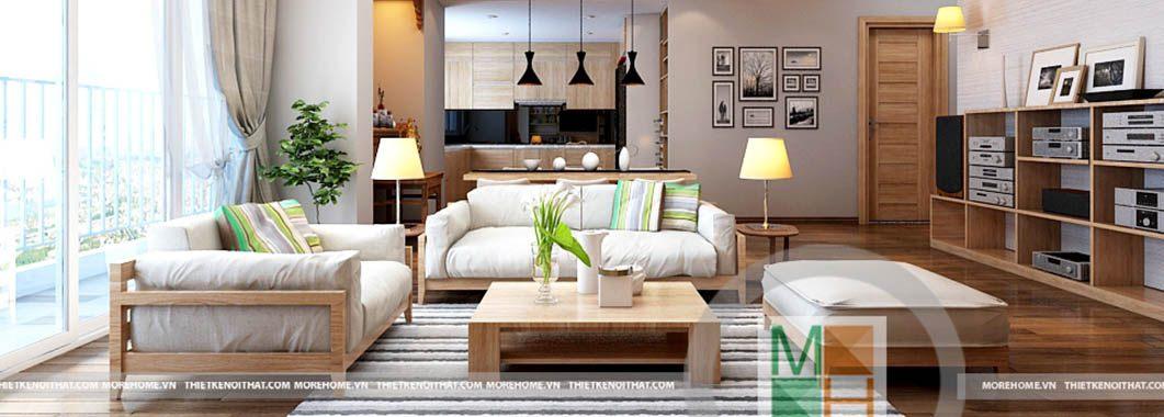 Thiết kế nội thất chung cư hiện đại N04